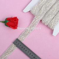 Luxury Rhinestones Applique for Wedding Sash Bridal Decoration 3cm Width Handmade with Glue on Back