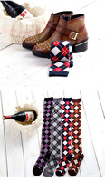 2015 New Cotton Knee High Socks Fashion Preppy Style Women's Stockings Casual Dress For Girls