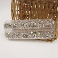 460PCS Mix SS12-SS38 claw rhinestones for wedding dress decoration DIY,Silver Loose Crystal Sew On Rhinestone Beads,glass stone