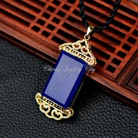 Thai pendants imported gold the natural lapis lazuli pendant vintage China imports wind wind Palace