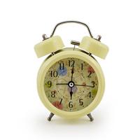 "Hot Sale Home Decoration  3"" 4"" Farm Flower Double Bell Ring Alarm Clocks Lazy Table Desktop Clocks 8 designs"