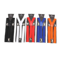 Active Solid Unisex Tirantes Hombre 12 Colors For Whole Year Polyester 100cm Leather Suspenders Elastic Brace Suit Adult