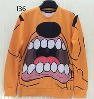 [Magic] Big Dog Mouse both side print o neck pullover 3d sweatshirt men/women casual sweatshirts round neck hoodies I36 free
