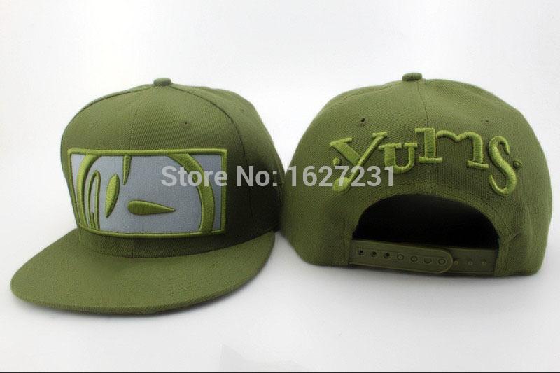 Hot Sale YUMS Snapback hats Army color 2015 New Arrival Designer mens women good nice sports sun baseball Bones Gorras caps(China (Mainland))