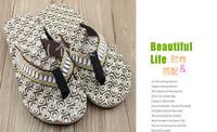 New high quality Men's  Casual Flat  Soft Flip Flops Sandals Beach shoes Slippers E060