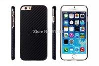 For iPhone 6 / 6 plus Slim Electroplated frame Carbon fiber Plastic hard case 8 colors