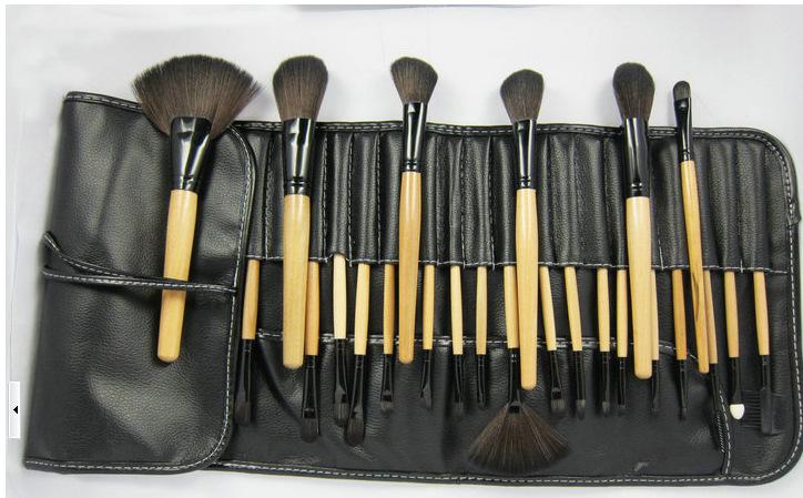 Manufacturers supply 24 brushes makeup brush set Wholesale Tool Set 1 Set free shipping(China (Mainland))