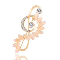 New Fashion Popular Charm Metal music symbol Opal rhinestone Brooch bouquet women Banquet Evening party Accessories 2015 M12