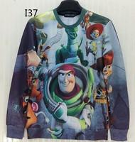 [Magic] Funny cartoon sweatshirts women Astronaut Dinosaur 3d sweatshirt both side print casual sweatshirts hoodies I37