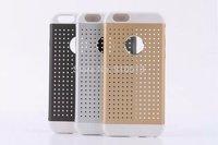 For iPhone 6 / 6 Plus iGlaze armor 3 in 1 Aluminum Hollow case Gold Black White