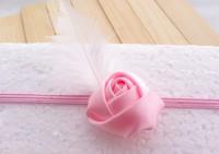 Retail Korean Newborn Baby Girls Rose Headbands feather Infant Baby princess Headband 10Piece