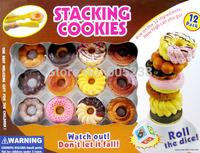 Free Shipping 1Set The Stacking Cookies Game /The Nurturing Balance Doughnuts Game