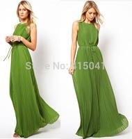 Hot ! 2015 Free Shipping Good Quality New Style Fashion Bohemian Dresses Women Floor Length Chiffon Dresses