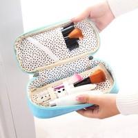 New Arrival Korea Candy Color Multifunction Folding Zipper Pencil Bag Organizer Case Travel Cosmetic Bag Case Pouch BFSH-206F