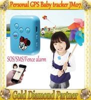 New  mini GPS personal  tracker GPS Children baby trackers for Children / Eleder / Pets / Car SOS fance alarm JM07 Free shipping