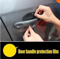Hot! Door handle protection film 4pcs/set for Nissan X-Trail Qashqai for ford focus 2 ford focus 3 Mitsubishi ASX LANCER QT35