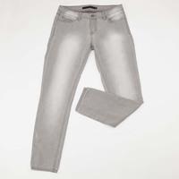 2015 New women casual cotton jeans bleached grey color women denim pants slim woman jeans hot pencil pants trousers