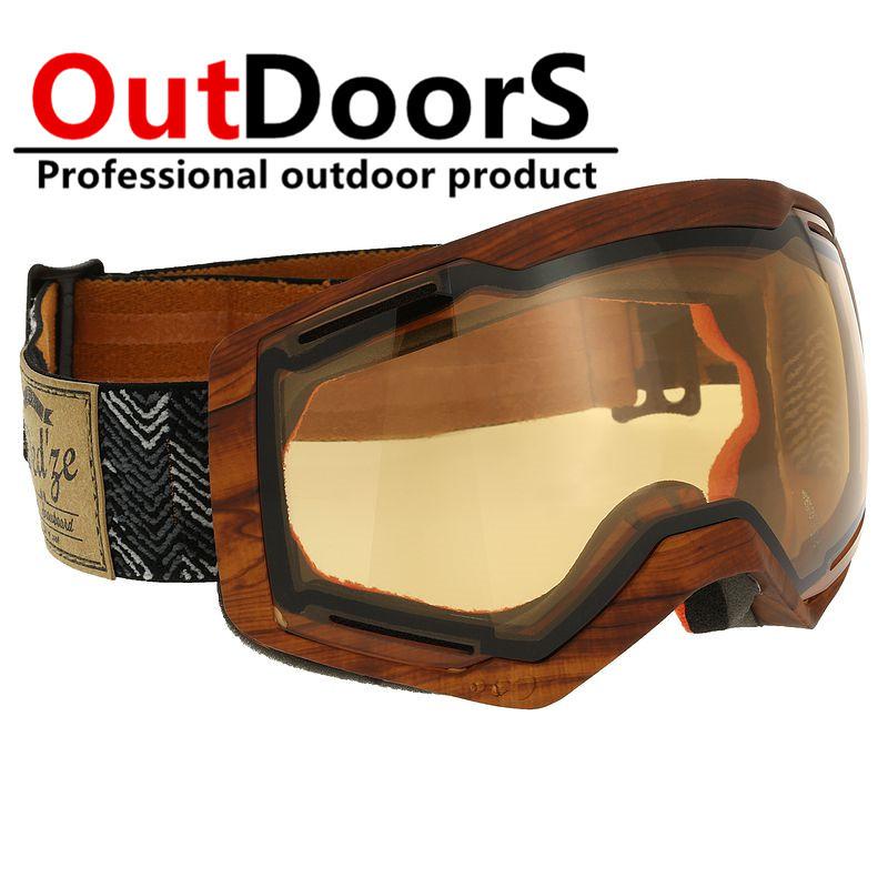 Shipping Free Powder snow ski goggles Ski goggles Prevent mist wind men and women antifog ski goggle(China (Mainland))