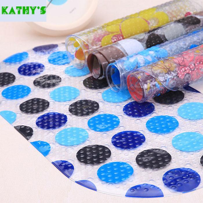 Clear Cartoon Shells Bathroom Anti-slip Mats Kathy Bath Mat PVC Bathroom Home Hotel Non Slip Mats(China (Mainland))