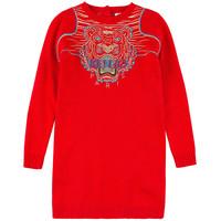 Retail New 2015 autumn /spring children clothing girls red wool dress long-sleeve kids girls princess casual dress vestidos