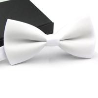 White Color 1 Piece 12*6cm Fashion Novelty Men's Adjustable Tuxedo Bowtie Suit Bow Tie Ties Necktie