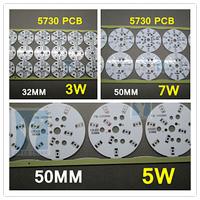 50pcs/lot. 3W 5W 7W 5730 5630  LED heat sink LED aluminium base plate bulb heat sink PCB 5730 lamp panel light .free shipping
