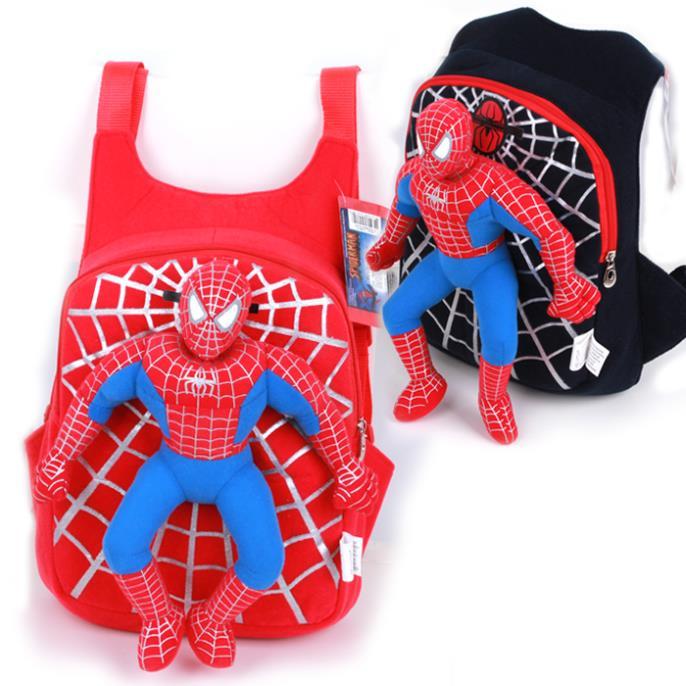 2014 novo bonito mochila saco de escola do homem-aranha 3d menino pequeno l