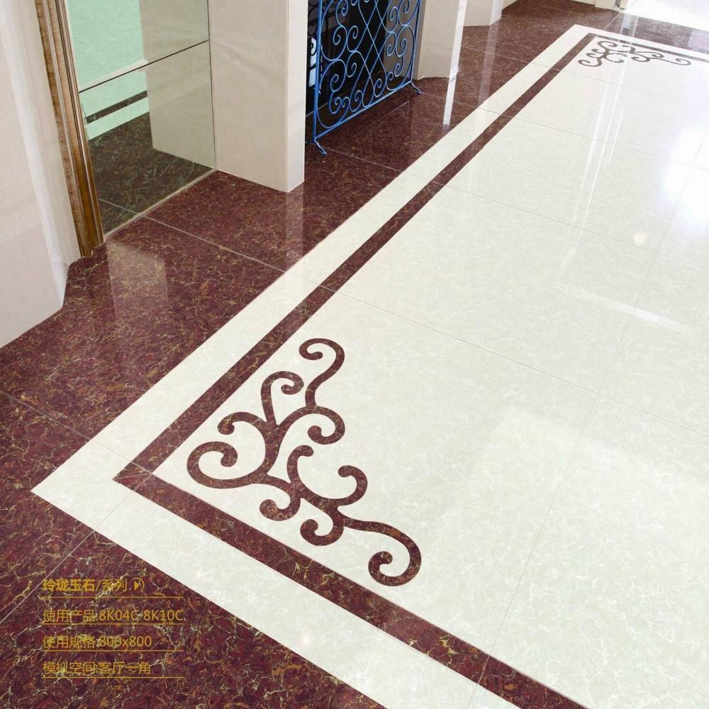 2015 Porcelain Polished Floor Tiles with nano 800X800MM LuBan PuLaTi 8K04C