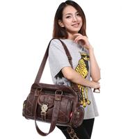 2014 women's leather handbag shoulder bag messenger bag casual bag big bag the trend of fashion handbag