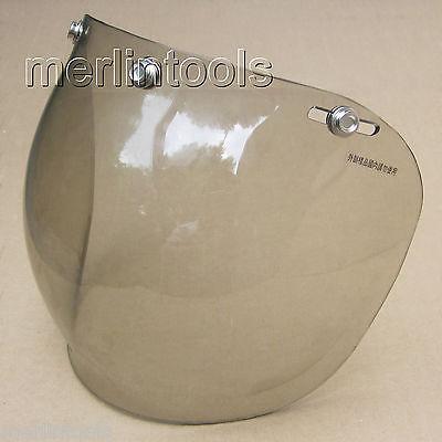 3 Snap Bubble Shield Smoke fit for Bell HJC Shoei Z1R Open face half 3/4 Helmet(China (Mainland))