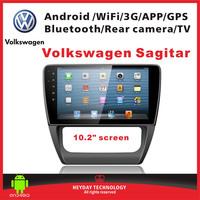 "10.2""inch  android Volkswagen Sagitar 3G Wifi GPS Bluetooth TV multimedia player car audio radio"