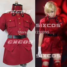 Japanese anime Hellsing Victoria Seras cospla costume
