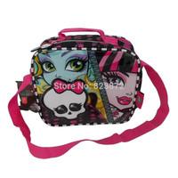 New Original Monster High Lunch Bag Cartoon Picnic Thermal Bag Waterproof School Lunchbox Lunch Box for Kids Girls Bolsa Termica