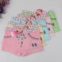 Beautiful Print Bow Bamboo Fiber Good Quality  short pants girls calcinhas Children Briefs underwear princesses  5PCS/LOT
