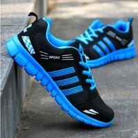 Autumn gauze sport shoes men ultra-light running shoes jogging shoes low breathable shoes network sports shoes skateboarding