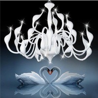 New Modern Chandelier By Italian Designer G4 Led Beads 18 head Swan Chandelier Light Fixture parlor dining room home lighting