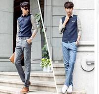 2015 High Quality Cotton Linen Men's Solid Casual Slim Korean Style Full Pencil Pants E057