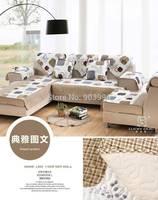 Free Shipping-Graphic style-Sofa cushion fabric sofa cushion upscale fashion European pastoral towel slipcover slip cover