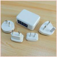 2.1A 4 Port USB Charger Universal USB Wall Charger AC Mobile Phone Charger For Home Travel With US UK EU AU Plug Optional