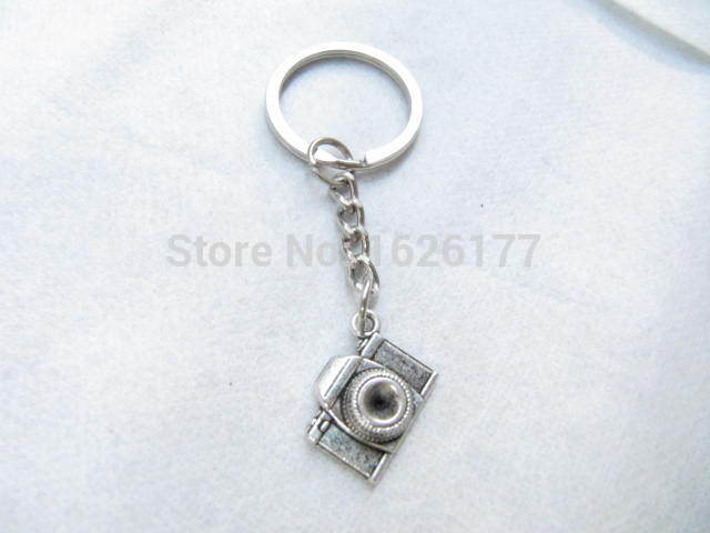 Wholesale~Silver camera key ring camera keychain silver camera Keychain antique jewelry steampunk gift(China (Mainland))