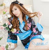 Japanese manufacturers, wholesale sexy lingerie sexy kimono kimono robe newest uniforms Pyjamas 8057
