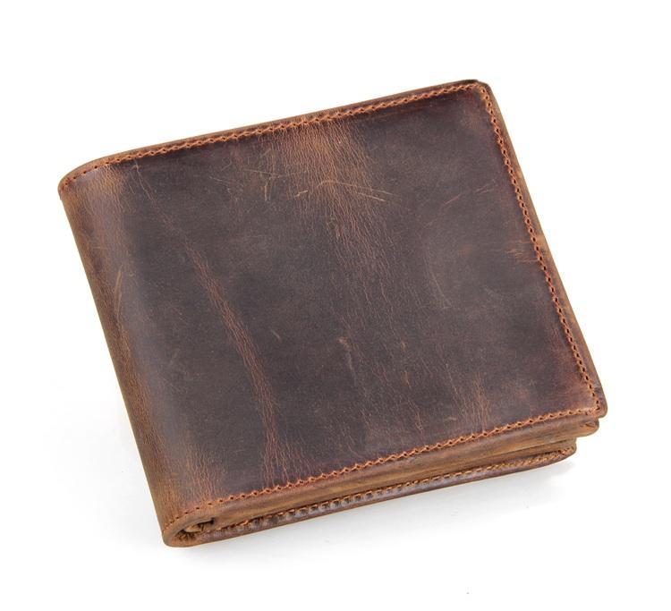 8056R 2015 Trend Design Men Vintage Genuine Leather Wallet