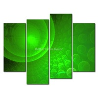 3 Piece Green Wall Art Painting Green Bubbles Picture Print On Canvas Abstract 4 5 The Picture Home Decor Oil Prints
