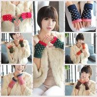 Women's Winter Autumn Knitted Thicken Warm Glove Fashion Fingerless Long Short Thicken Gloves Mittens For Women #M00247