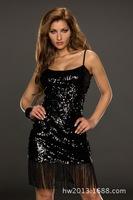 Free shipping 9227 the new Sexy Lingerie sling aliexpress sequin tassels dress Clubwear sexy underwear