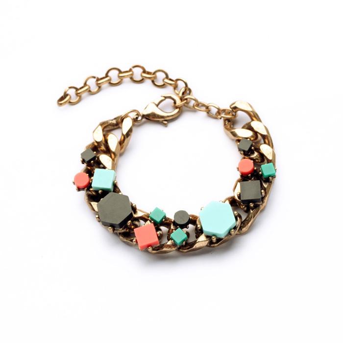2014 trendy charm bracelet thick gold chain popular
