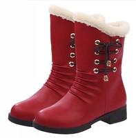 2014 winter thermal plush martin single short boots