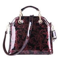 High Quality Fashion 2014 Hot New Women Butterfly Print patent leather bag womens handbag Shoulder Messenger bags