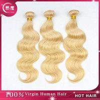 Honey Blond Hair #27 Color Brazilian Virgin Hair Body Wave 3pcs/lot Brazilian Blond Hair Weaving Blond Human Hair