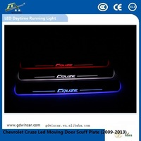 2015 High Brightness Special Car led source light High Quality Door Sill Plate For Chevrolet Cruze Led Moving Door Scuff Plate